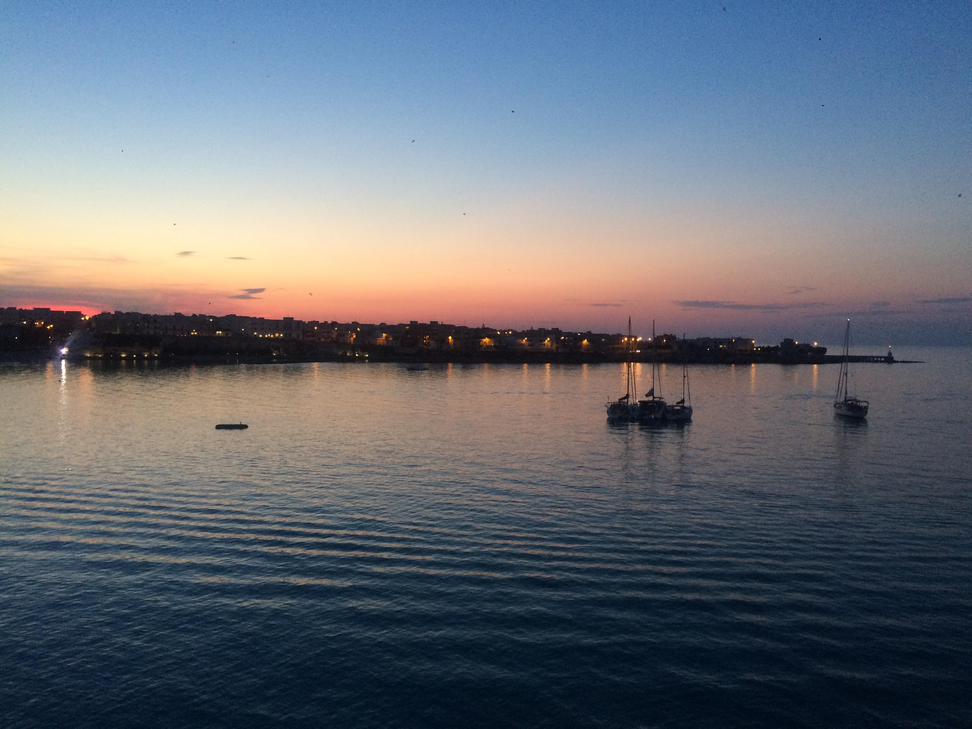 Kreta - haven bij zonsondergang